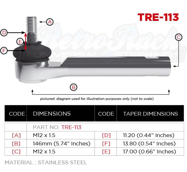RetroRack TRE-113 Tie rod