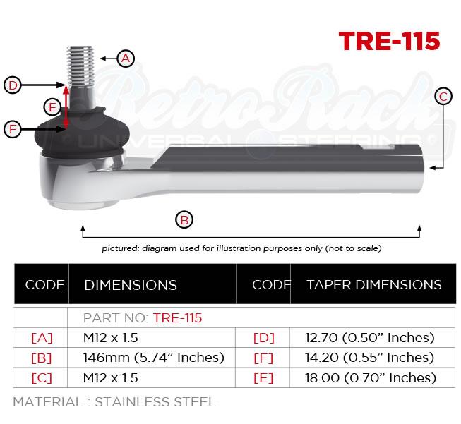 RetroRack TRE-115 Tie rod
